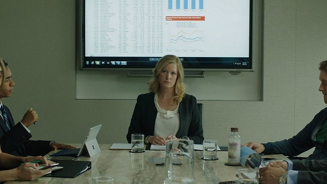 Anna Gunn can't quite keep up with the corruption in EQUITY.