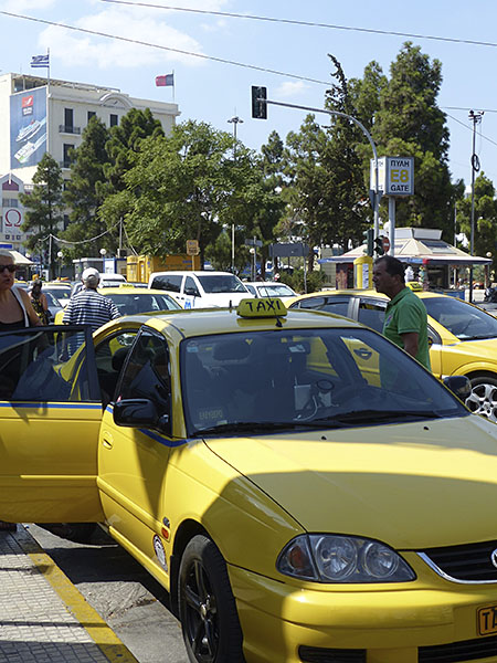 les taxis du Pirée