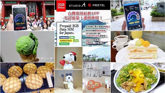 0 STUDIO A 日本2GB+社群APP無限卡 FREETEL Docomo LTE 2GB+台灣熱門社群APP (Facebook、Line、微信、WeChat、KAKAO Talk) 不限量流量