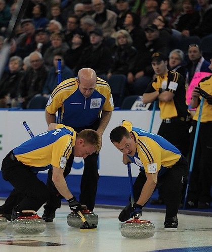 Edmonton Ab.Mar5,2013.Tim Hortons Brier.Alberta skip Kevin Martin,lead Ben Hebert,second Marc Kennedy.CCA/michael burns photo | by seasonofchampions