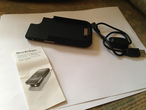 Sold brookstone pocket projector for iphone 4 4s 95 flickr for Best pocket projector for iphone