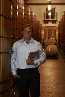 John Jordan of Jordan Winery with iPad | by jordanwinery.com