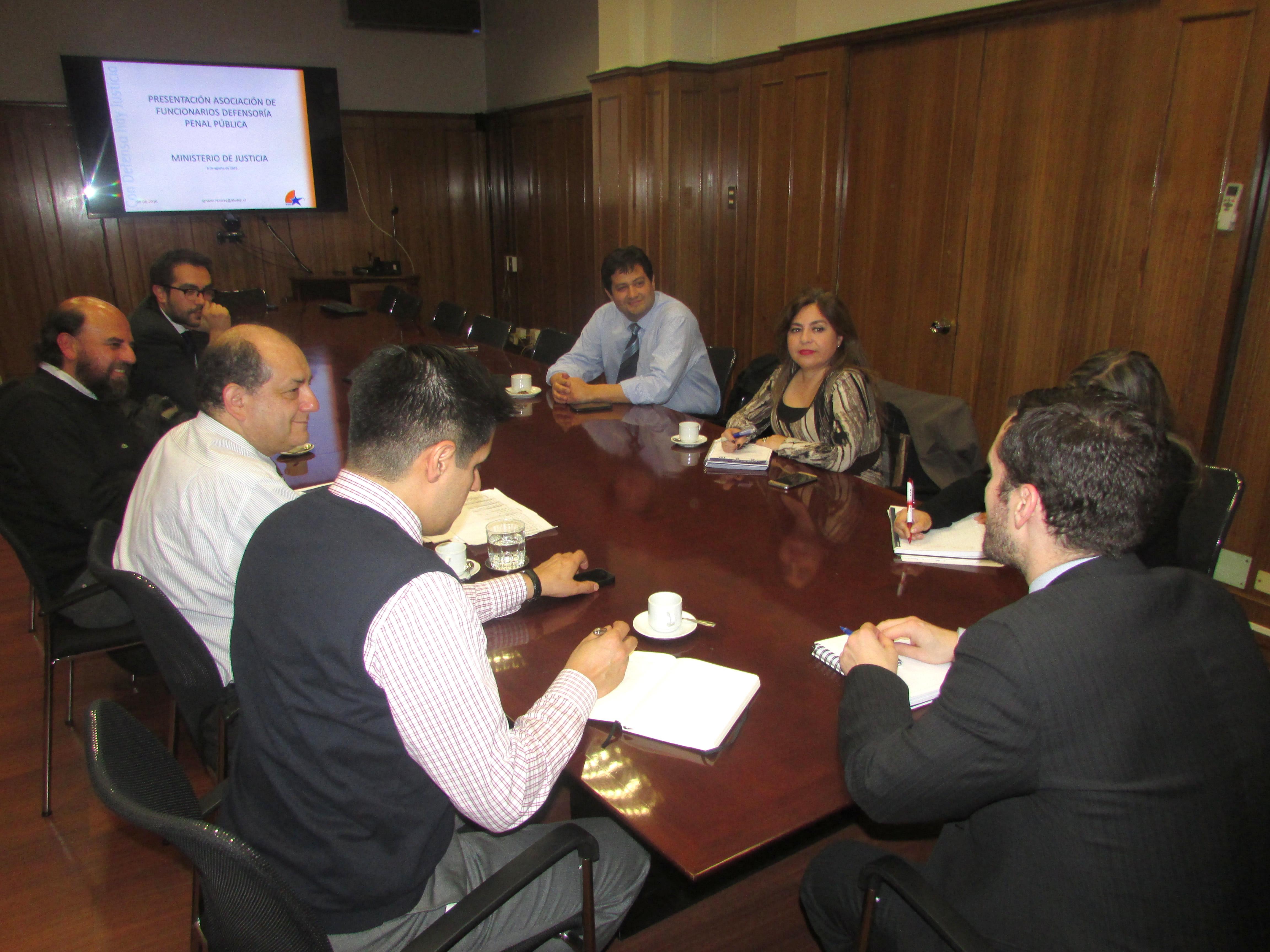 AFUDEP solicita apoyo a Subsecretario de Justicia - 08 Agosto 2016