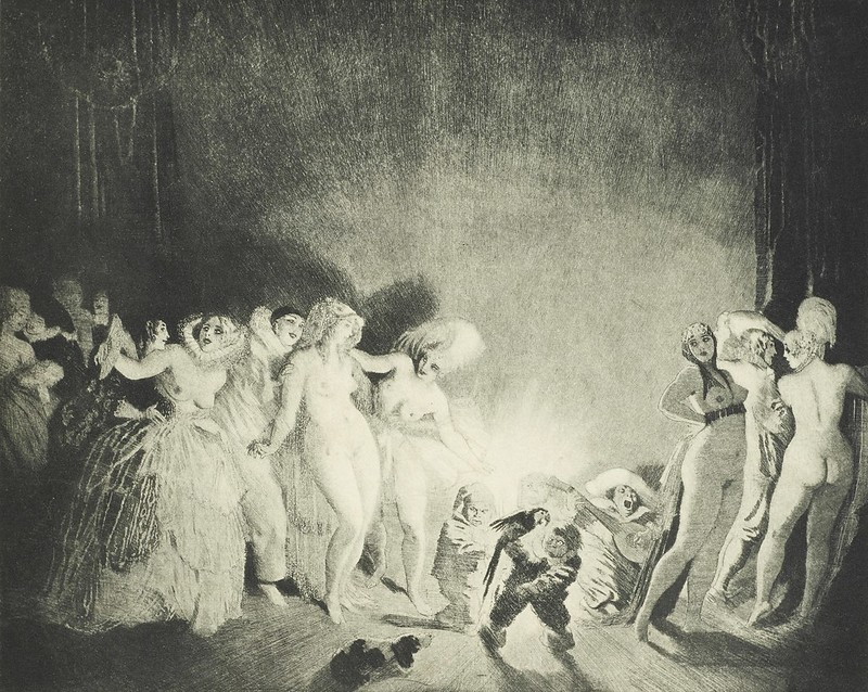 Norman Lindsay - Goodnight, 1920