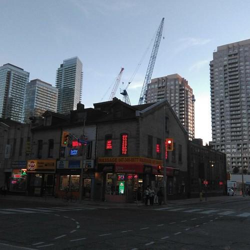 Cranes of Wellesley #toronto #yongeandwellesley #cranes #condos #wellesleystreet