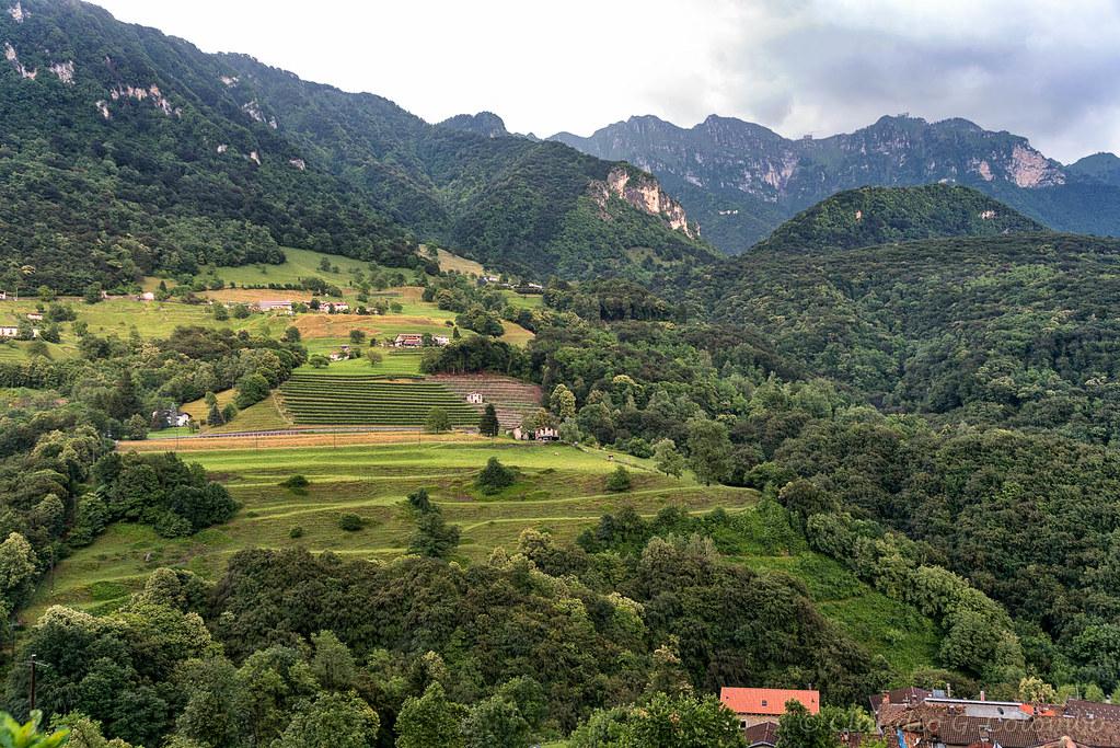 Landscape near Arogno (Ticino, Switzerland)
