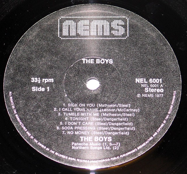The Boys - Self-titled, Punk Nems Nel 6001