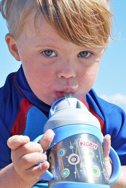 Nuby Insulated Stainless Steel No-Spill Flip-It with 360 Weighted Straw