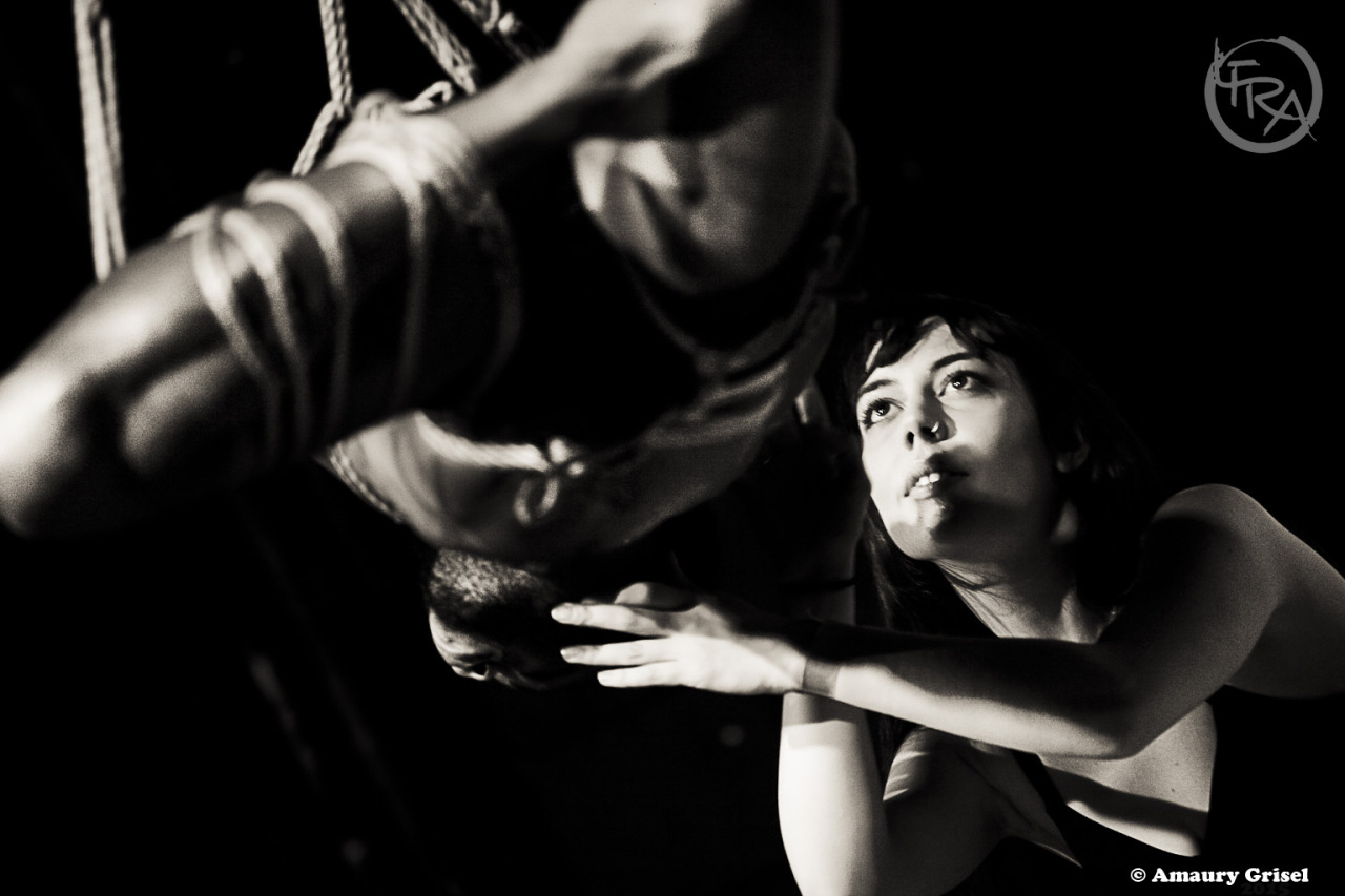 Shibari performance by Gestalta and Bishop in London, LFRA 2015