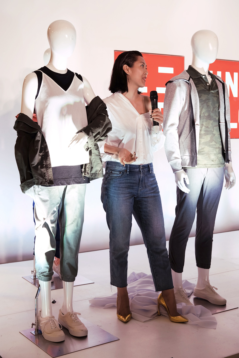 liz uy uniqlo jogger pants launch