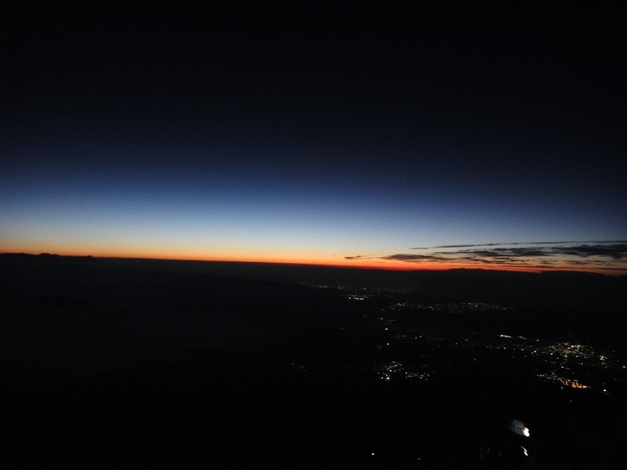 Mount Fuji - Soluppgång på gång