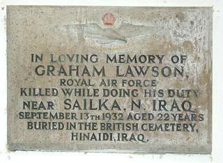 Killed while doing his duty near Sailka, North Iraq