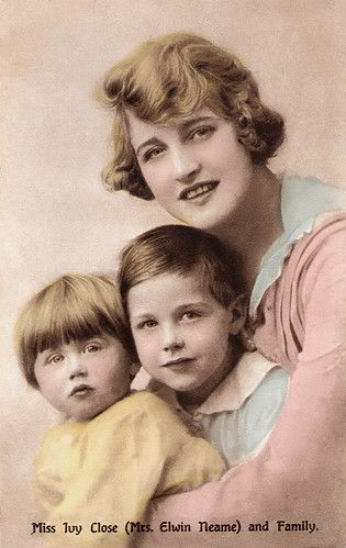 Ivy Close and her sons Derek and Ronald Neame