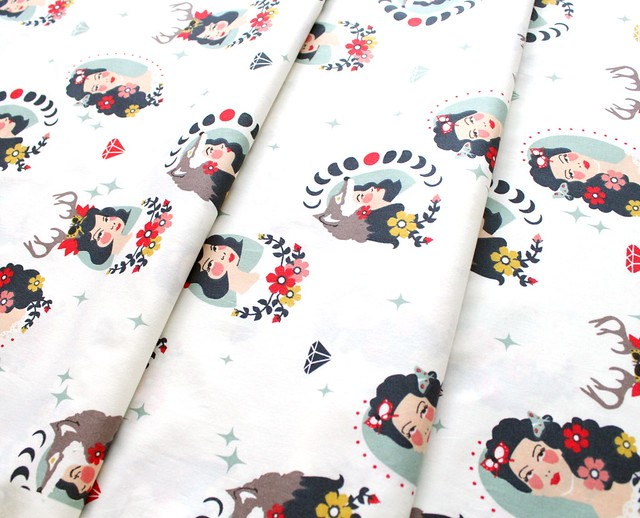 Birch Fabrics Tall Tales Madame Cream