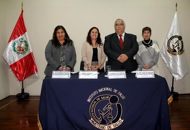 Presentación del nuevo jefe del INS, Dr. Luis Suárez Ognio