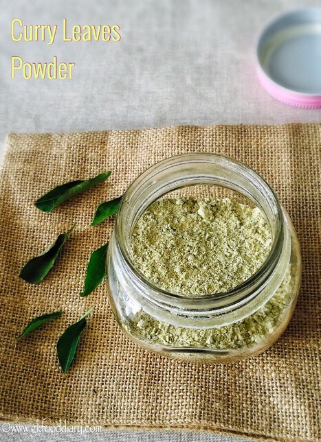 Curry Leaves Powder Recipe for Toddlers and Kids3
