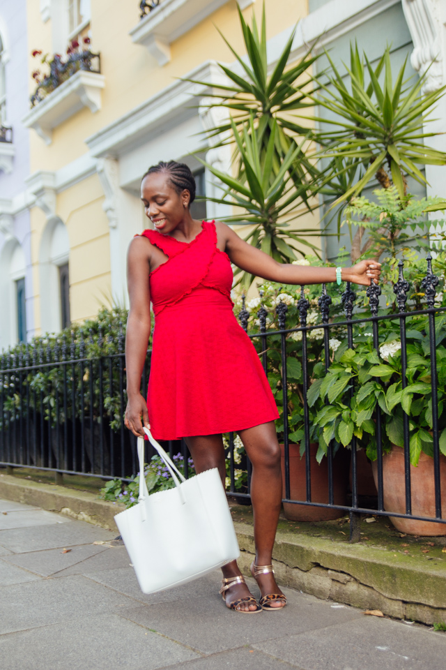 how to style a little red dress