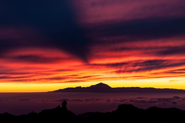 Teide Shadow in the Sky