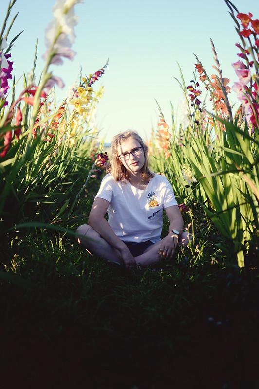 Fotografie Blumen Mädchen
