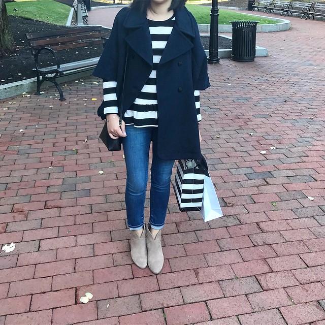 LOFT Cape Coat Outfit
