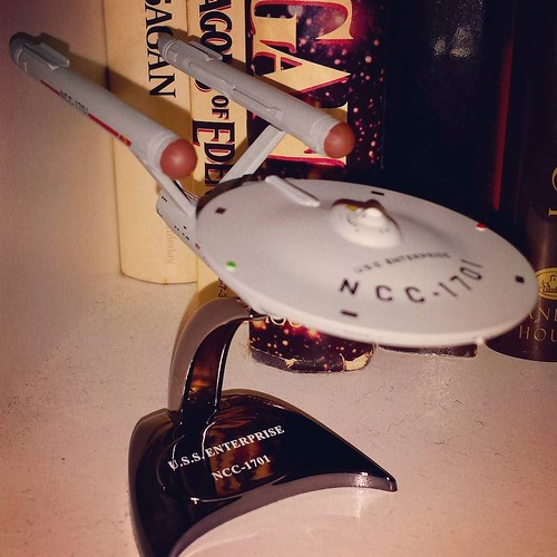 Comicon Find IV: The Enterprise. Ship Number Two of my Holy Spaceship Trinity (the other two being Serenity and the Millennium Falcon.) #buffalocomicon #StarTrek #SpaceshipsAreAwesome