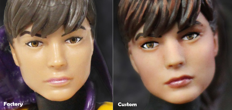 Action figure faceup