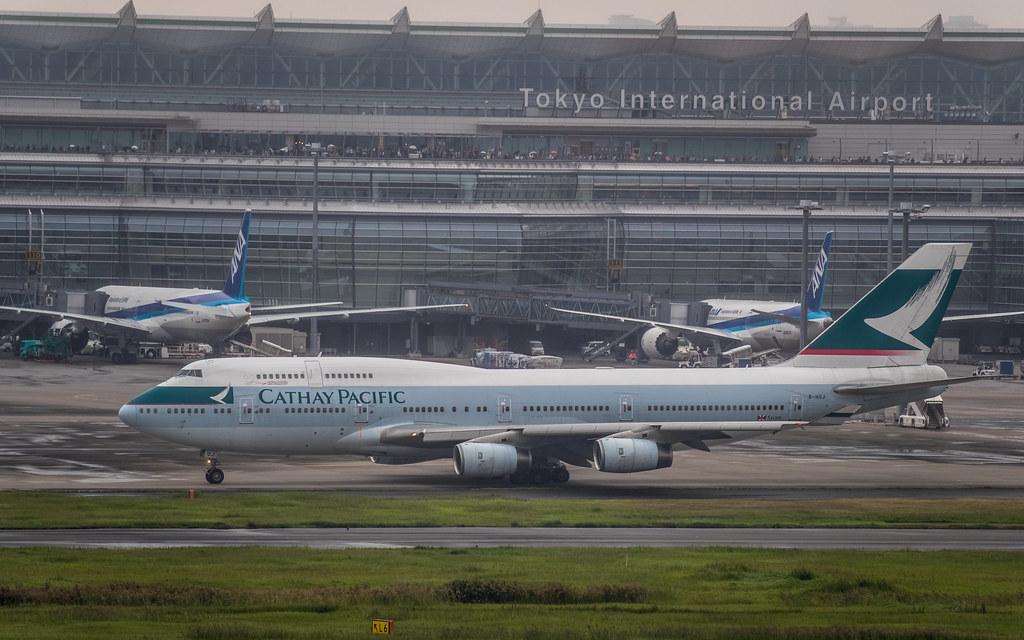 B-HUJ 国泰航空 Cathay Pacific キャセイパシフィック航空 Boeing 747-400 ラストフライト CX543