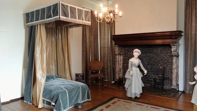 Kasteel Hoensbroek interieur kamers slaapkamer