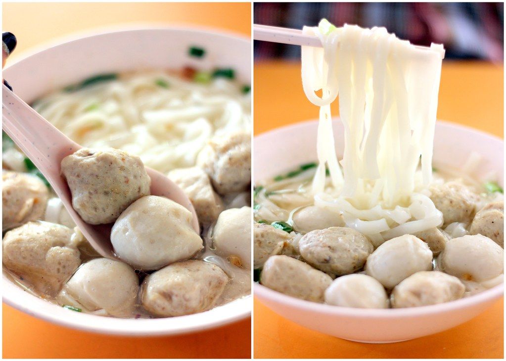 Bukit Merah View Food Centre: Hong Xing Handmade Fishballs And Meatballs Noodles