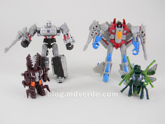 Transformers Megatron con Chop Shop & Starscream con Waspinator - Transformers Generations Takara - modo robot