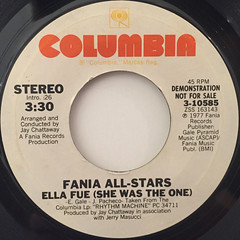 FANIA ALL-STARS:ELLA FUE(SHE WAS THE ONE)(LABEL SIDE-B)