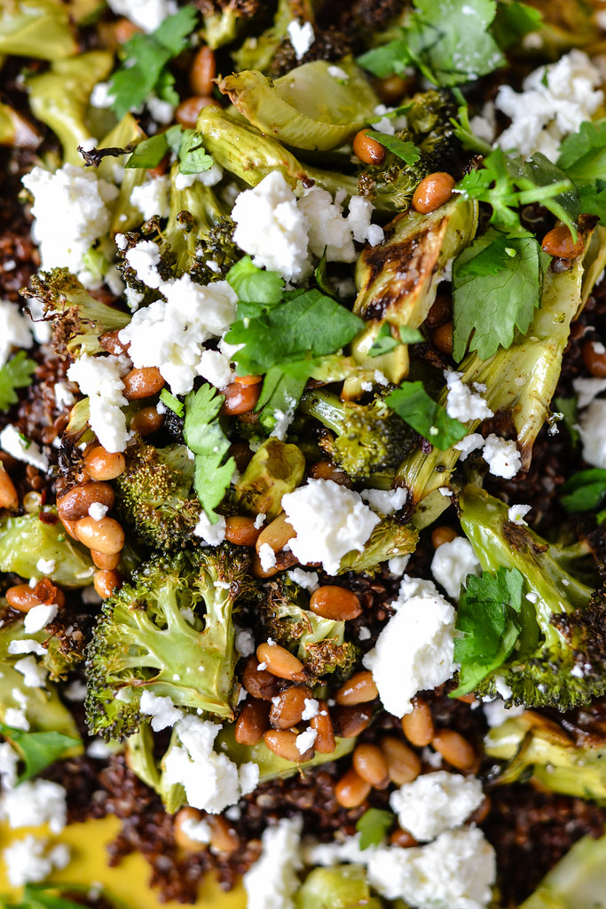 Brown Butter Broccoli Over Quinoa and Feta | Things I Made Today