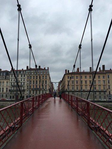Passerelle Paul Couturier Bridge over Saône River in Lyon, France
