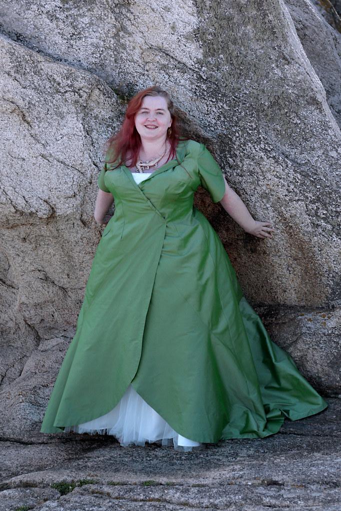 Robe de mariée grande taille verte