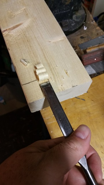 "1/2"" chisel to mark the back and remove the waste"
