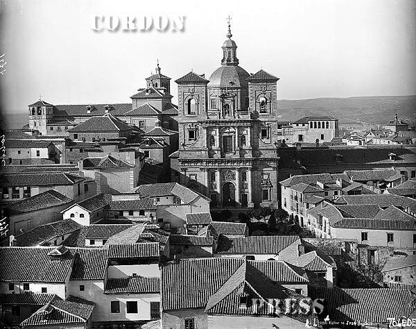 Iglesia de San Ildefonso vista desde la Catedral de Toledo hacia 1885. © Léon et Lévy / Cordon Press - Roger-Viollet