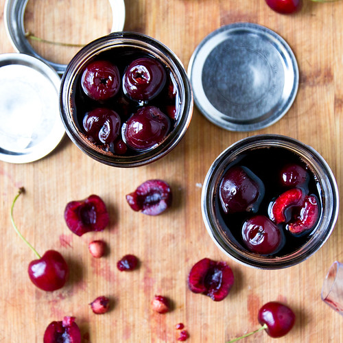 Balsamic Pickled Cherries | by TheBrewer&TheBaker