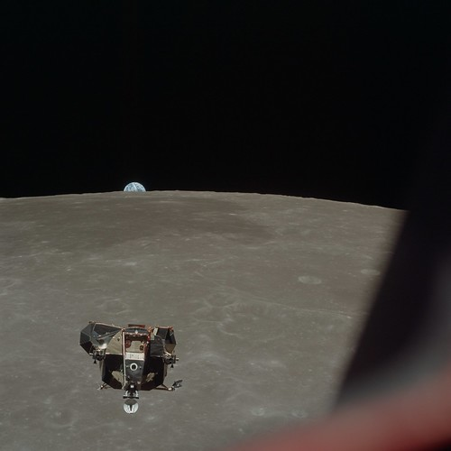 Apollo 11 Lunar Module ascent stage photographed from Command Module | by NASA on The Commons