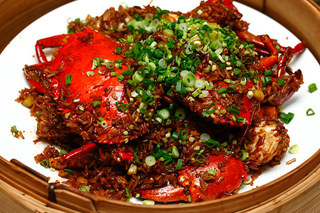 Fried Glutinuous Rice with Crab