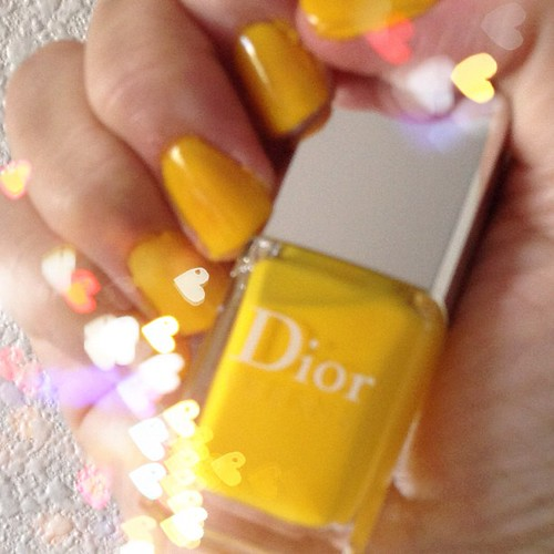My #favorite #summer #nailpolish is #dior #vernis in #acapulco a #glossy #yellow which is one of my favorite summer colors  @zenith1920 #fashion #style #nailaddict #naillacquer #nailcolour | by mimi.candi