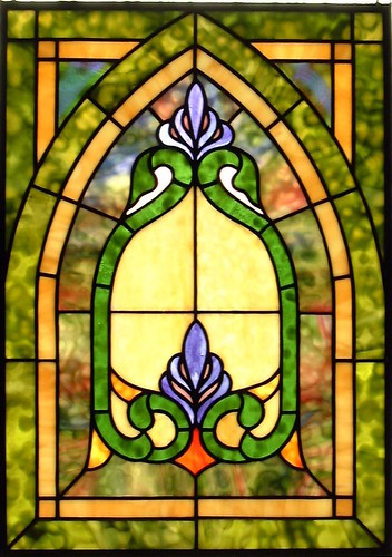 Small Gothic in Green Stained Glass Window | by octobercountry1