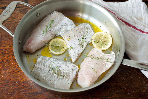 hake with olive oil, butter, and lemon | by sassyradish