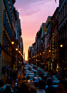 Sunset on the Streets of Rome | by Zach Dischner