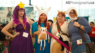 Lumpy Space Princess, Fionna, Cake, Cake, and Fionna from Adventure Time at Comic-con SDCC 2012 | by andreas_schneider