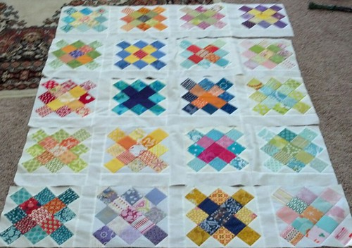 granny quilt rows | by vickivictoria