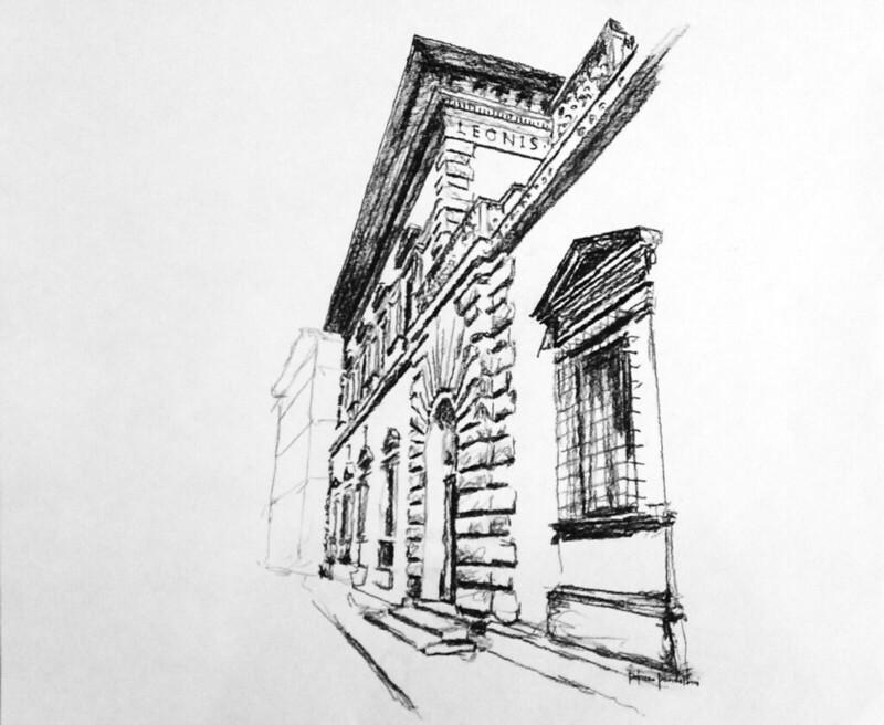 Kleeman drawings NReid-2002 (13) Palazzo Pandolfini