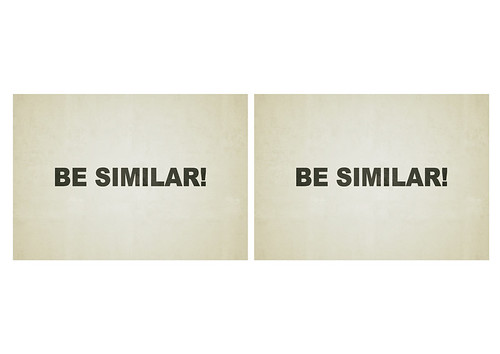 be similar! [diptych] | by theG™