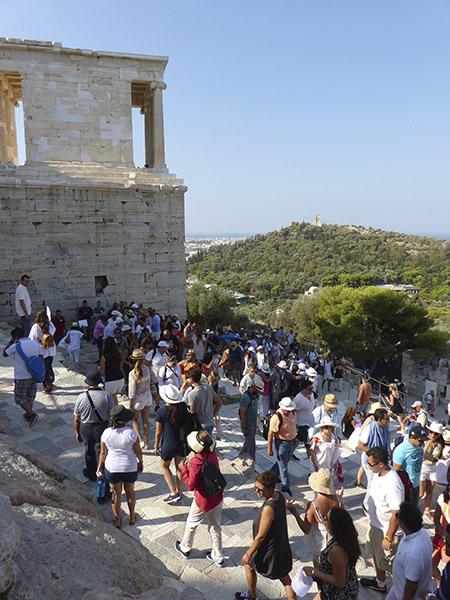 foule sur l'Acropole 1