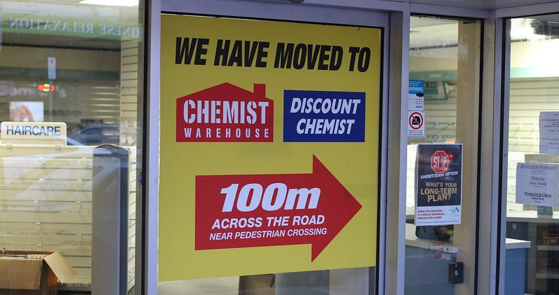Moved to Chemist Warehouse, Bentleigh