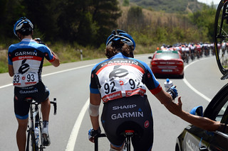 Thomas Dekker, Koldo Fernandez - Vuelta a España, stage 2 | by Team Garmin-Sharp